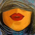 Sara El Assaad, Unveiled Lips, 2014, Oil on canvas
