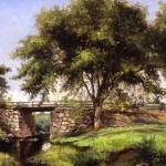 Delbert Dana Coombs, Bridge, 1899, oil on canvas