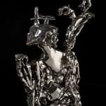 Marc Leuthold, Marienbad sculpture, 2012(?), platinum glazed, terra cotta, 10 inches tall