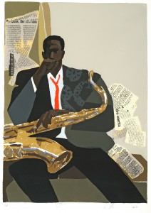 Joseph Holston, Jazz, 1990, Screenprint