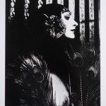 Irina Ionesco (French, born 1938), Femme à la plume de paon, ma première photo (Woman with peacock feather, my first photo), 1968, gelatin silver print. Gift of Ronald Francesco, 2012.