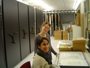 Museum Interns Cara Garcia-Bou 13 and Nell Wachsberger 13_winter2013
