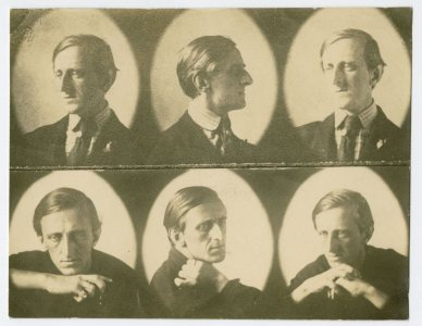 Photographer unknown, Marsden Hartley, 1909, sepia toned photograph