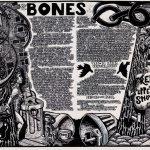Bones, 21 1/2 x 59 1/2, 23 x 63 inches