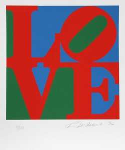 Book of Love, Red/Green/Blue, 1996, Silkscreen in colors on Coventry Archival Rag Paper, Edition of 200, 20 x 24 inches