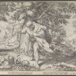 Hendrik Goltzius (after Robert Willemsz Baudous), Metamorphosen des Ovid, no. 8, mid-6th century - early-17th century, Dutch, Engraving, 7 inches x 10 inches, Gift of Lisa and Leonard Baskin