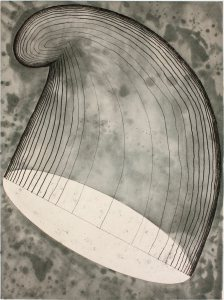 Martin Puryear, Phrygian Cap in the Air, 2012, softground etching with drypoint and chine colle, Edition-of-40