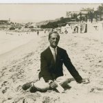 Hartley on Beach at Cannes, 1925