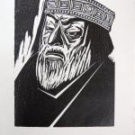 Claire Van Vliet, King Lear, 1986, lithograph, 19 3/4 x 15 1/2 inches, Gift of the Artist