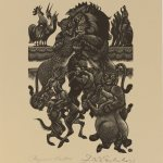 Fritz Eichenberg (American, 1901-1990), Reynard the Fox, 1954, wood engraving on paper, Museum purchase with the Dr. Robert A. and Minna F. Johnson '36 Art Acquisition Fund, 2015