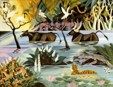 Bengal River, 1981, Oil on linen, 24 x 30 inches