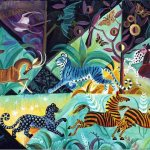 Blue Moon Jungle, 2006, oil on linen, 24 x 36 inches, Private Collection
