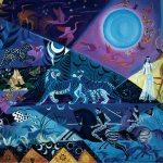 Blue Moon Night, 1990, oil on linen, 30 x 26 inches, Private Collection