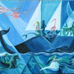 Blue Moon Voyage, 2006, oil on linen, 24 x 36 inches, Private Collection