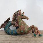 Mythological Seahorse-2, 1977, soft sculpture, 10 ½ x 20 x 5 ½ inches, Courtesy Rachel Walls Fine Art