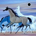 Dark of the Sun, 1965, oil on linen, 32 x 40 inches, Courtesy Rachel Walls Fine Art