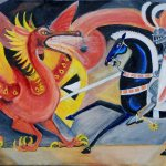 St. George & the Dragon, 2008, oil on linen, 17 x 22 inches, Private Collection
