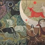 Hunters of the Moon, 1966, oil on canvas, 24 x 35 inches, Private Collection