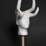Nora Dahlberg, 2018, Untitled, Plaster, clay, and epoxy on Styrofoam, 26 x 12 x 12 inches