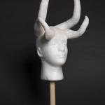 Nora Dahlberg, 2018, Untitled, Plaster, clay, and epoxy on Styrofoam, 26 x 12 x 12 inches