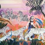 Valley of Tishnar, 1966, oil on canvas, 23 x 35 inches, Private collection