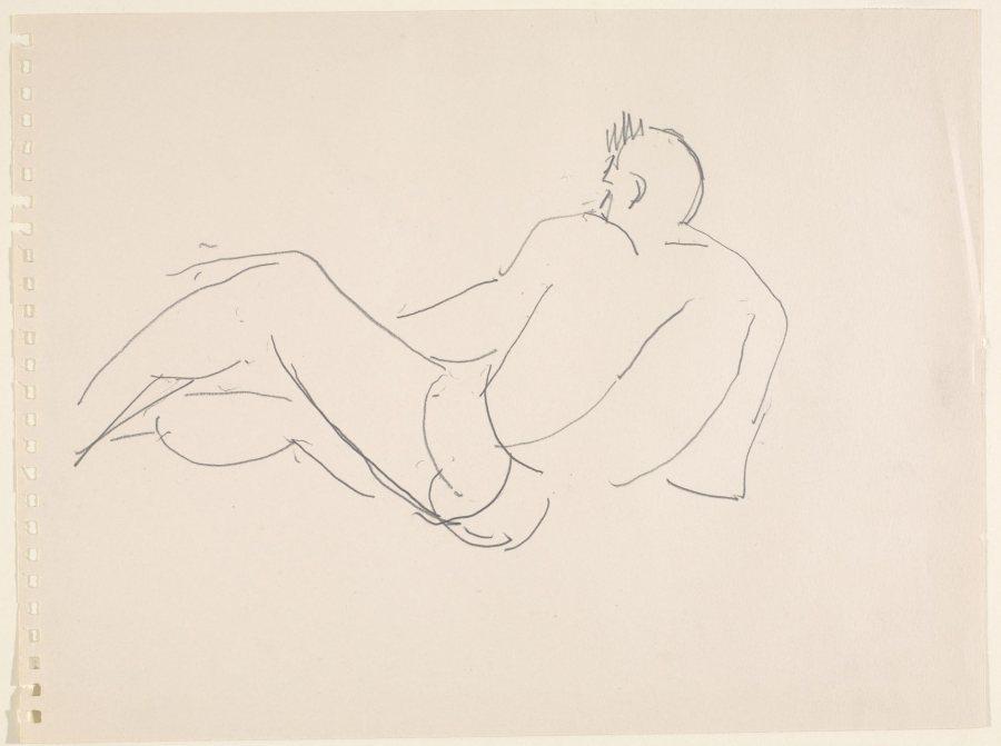 Marsden Hartley, Reclining Figure, ca. 1940