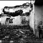 Peter Turnley, Bosnian-Muslim Displaced Refugees, Croatia, 1995, Archival Pigment Print, 20 x 24 inches, Bates College Museum of Art, Gift of John and Claudia McIntyre