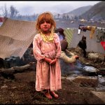 Peter Turnley, Kurdish Refugees from Iraq, the Gulf War, Southern Turkey, 1991, Archival Pigment Print, 24 x 20 inches, Bates College Museum of Art, Gift of Jacqueline and John Urbano