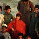 Peter Turnley, Afghan Refugees, Peshawar, Pakistan, 1989, Archival Pigment Print, 24 x 20 inches, Bates College Museum of Art, Gift of the Olson Family