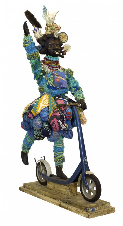 Vanessa-German-oh-for-the-healing-of-the-blues-2016-Mixed-media-assemblage-73-x-26-x-44-inches-Collection-of-the-Figge-Art-Museum-Davenport-museum-purchase-with-fund provided by the Friends of Art Acquisition Fund and Linda and J. Randolph Lewis, Courtesy of the artist and Pavel Zoubok, Fine Art, NY