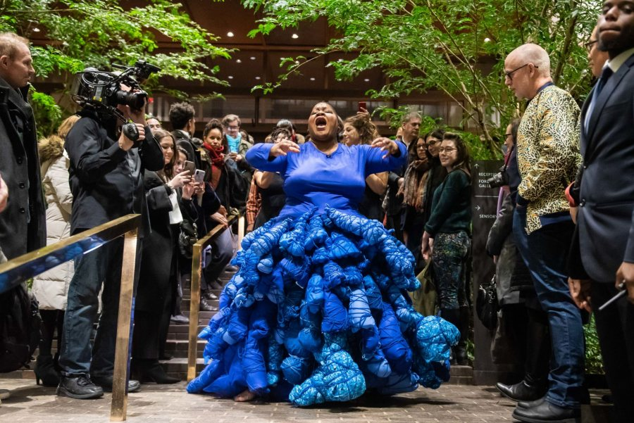 Vanessa German performance at Ford Foundation for the Opening of Perilous Bodies. 2019. Photo: Jane Kratochvil