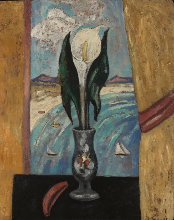 Marsden Hartley, Atlantic Window in the New England Character, c. 1917, Oil on board, 31 5/8 x 25 in., 38 x 31 1/2 x 2 1/2 in., Vilcek Collection, 2005.04.01