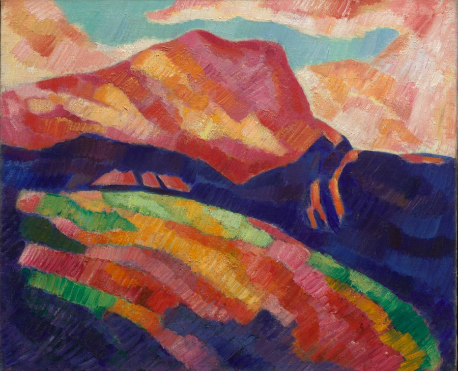 Marsden Hartley, Mont Sainte-Victoire, c. 1927, Oil on canvas, 20 x 24 in., 27 1/2 x 31 3/4 x 2 1/2 in., Vilcek Collection, 2007.06.01