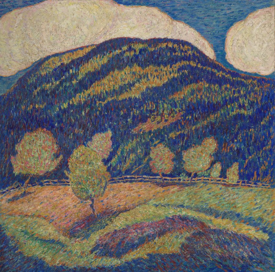 Marsden Hartley, Silence of High Noon - Midsummer, c. 1907-08, Oil on canvas, 30 1/2 x 30 1/2 in., 41 15/16 x 41 1/2 x 2 7/8 in., Vilcek Collection, 2008.07.01