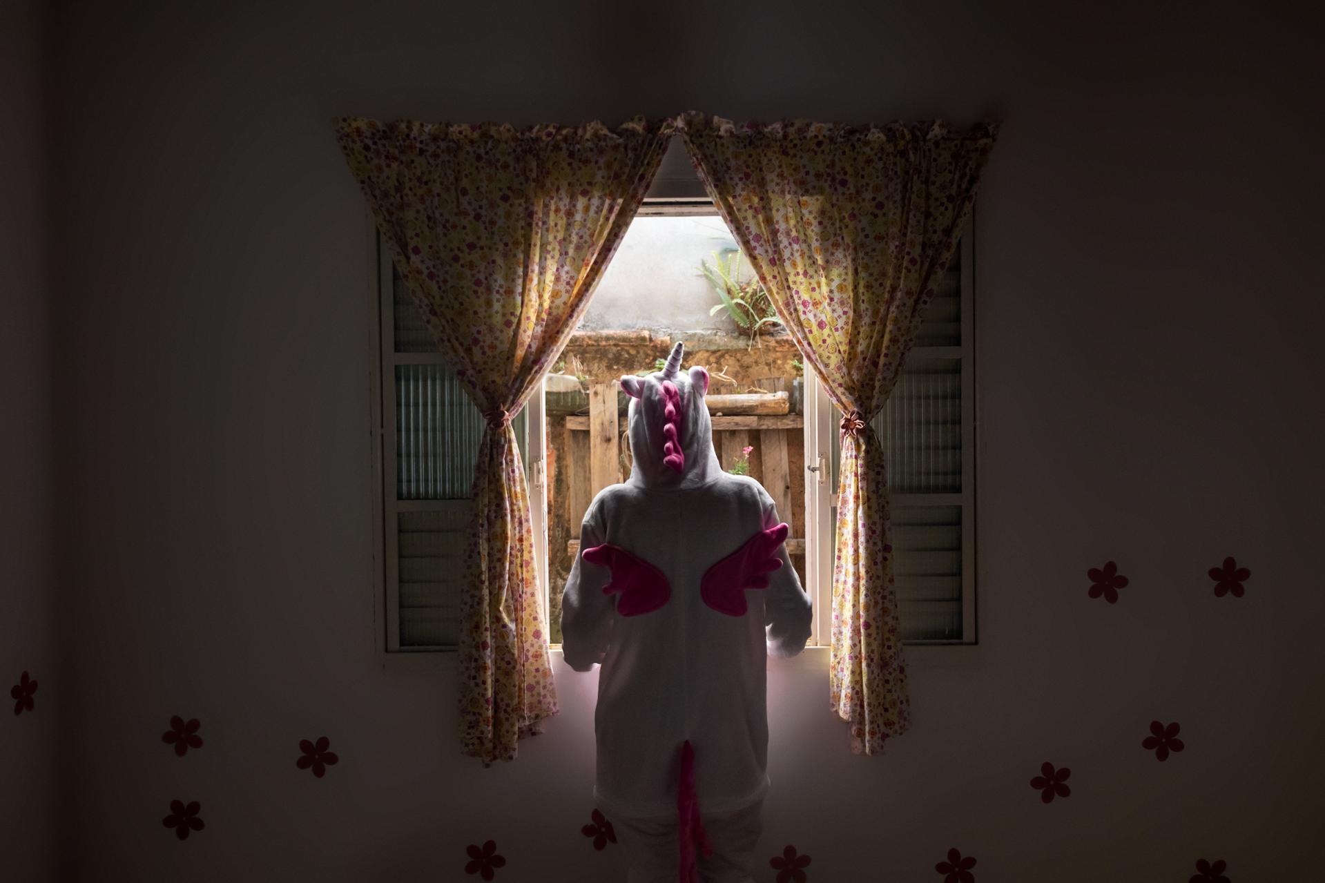 """Ariel Abonizio, Unicorn Dreams, 2019, Inkjet print, 29"""" x 36"""""""