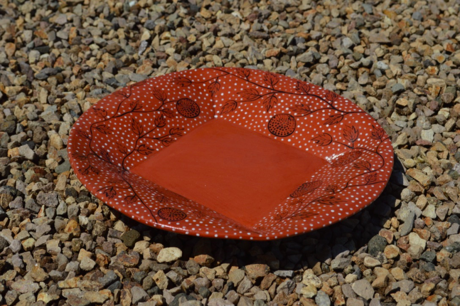 Madeline Schapiro, Tomato, 2020, earthenware ceramics, 10 x 10 inches