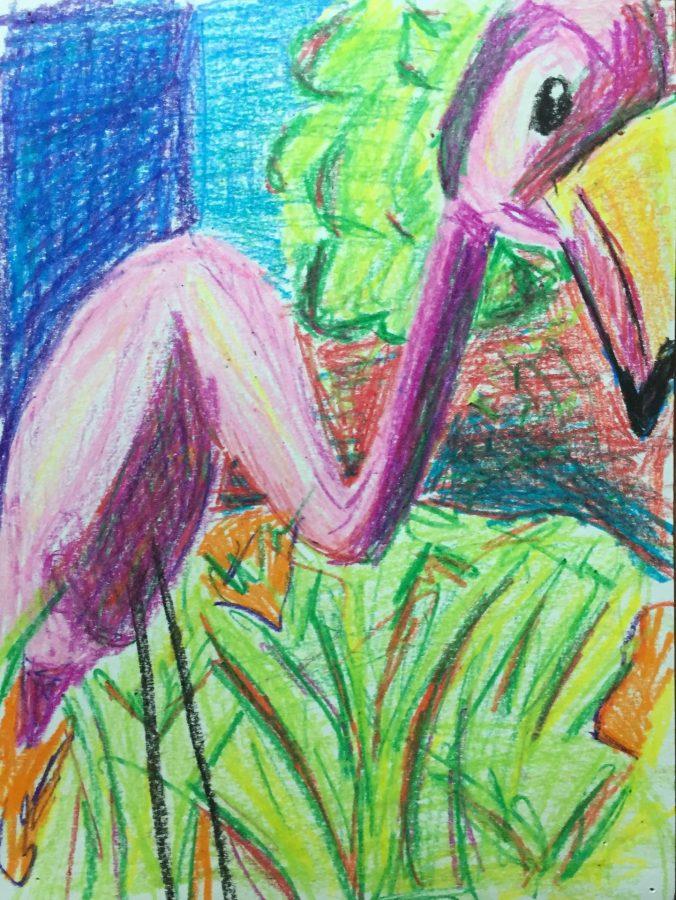 """Eden Rickolt, Untitled, 2019, crayon 9"""" x 12"""""""