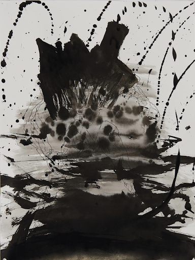 Mike Jones, Aftermath, 2020, Sumi ink and pencil, 9x12 inches
