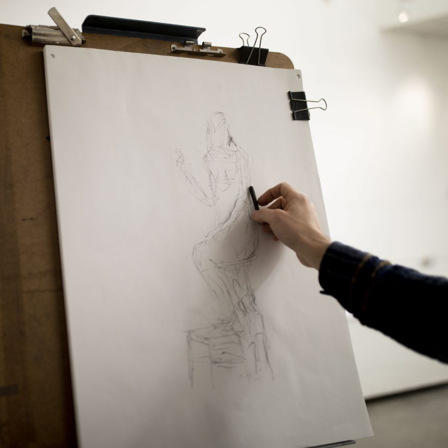 Olin Arts CenterCommunity members, students, and staff attend a life drawing class.
