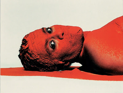 Berni Searle (South African, b. 1964), Untitled [Red] from Colour Me series, 1998 (printed 2001), Photograph on Agfa Professional paper, edition 1/10, Bates College Museum of Art purchase, 2004.18.1