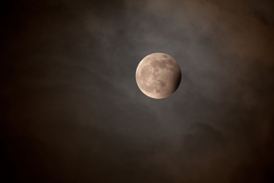 Blue Moon, Eclipse, 2010, archival inkjet print, Bates College Museum of Art, gift of the artist, 2013.4.1