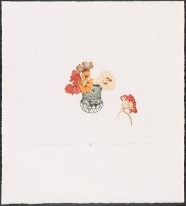 Beth Van Hoesen (American, 1926-2010), Cut Glass and Nasturtiums (23/25), engravin