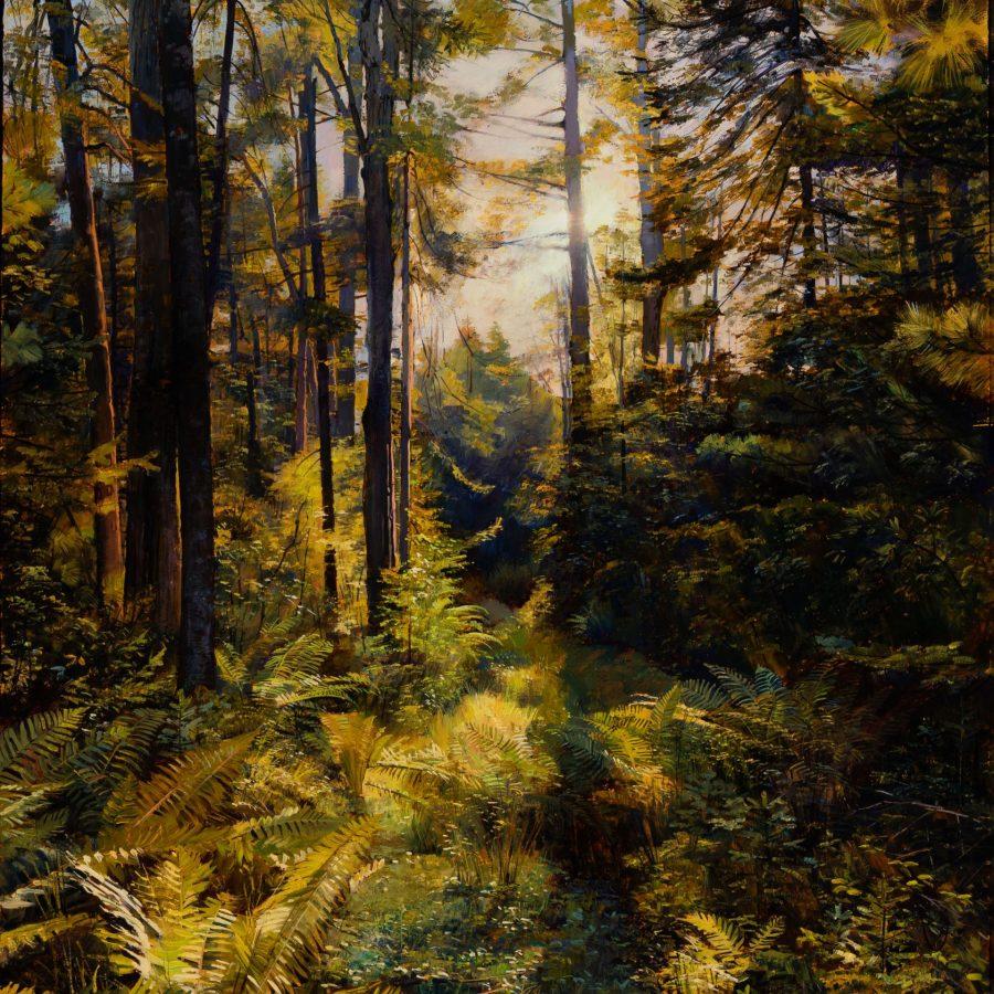 Joel Babb, Carl's Path (detail), 2009, oil on canvas, 2020.1.1