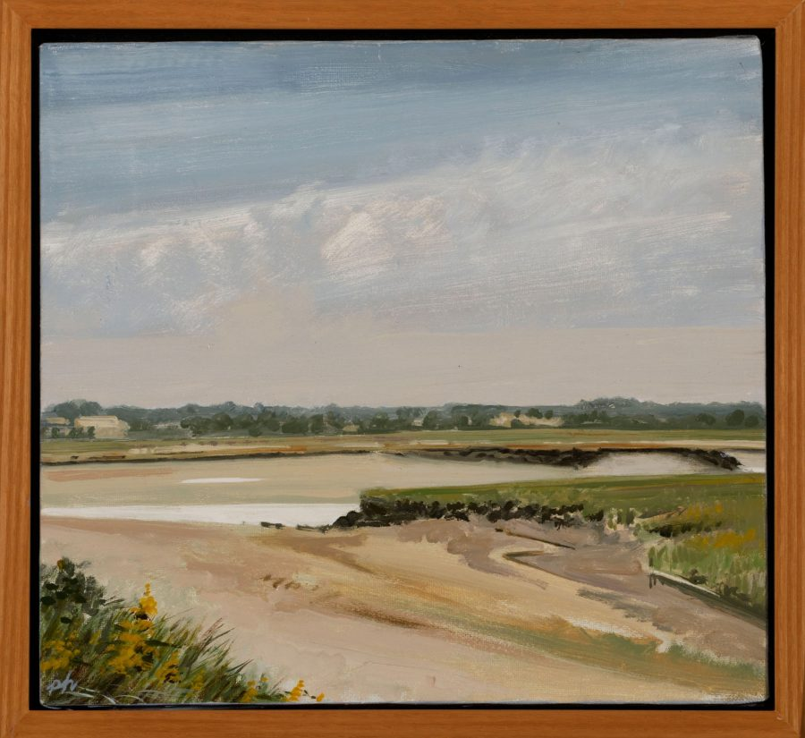 Pat Hardy, Inlet at Drake's Island, 1986, oil on canvas, 2020.1.21