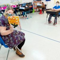 Photos: Bates donates books to Lewiston-Auburn teachers
