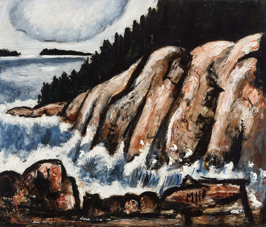 Marsden Hartley, End of Storm, Vinalhaven, Maine, ca. 1938, oil on masonite, 22 x 26 inches