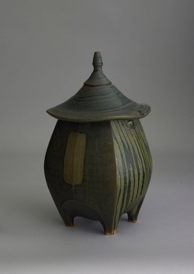 Sequoia Miller, Hut Jar, stoneware, 12 ½ x 7 ½ inches, 2019.4.65