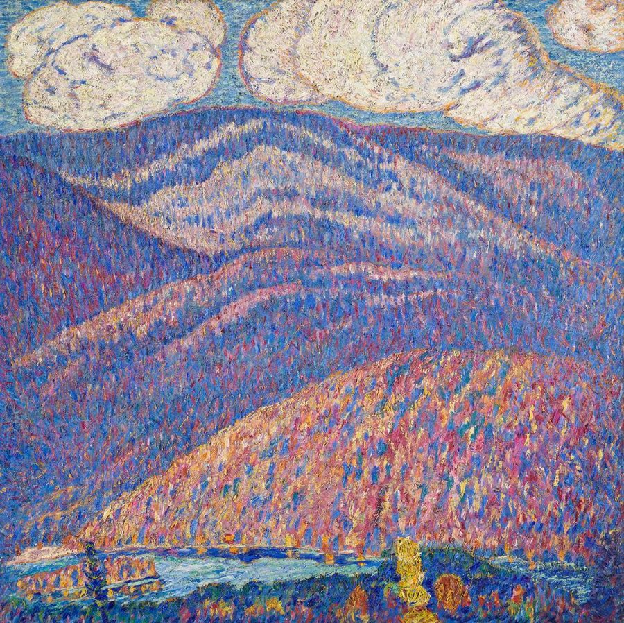 Marsden Hartley, Hall of the Mountain King, ca. 1908-09, oil on canvas, 30 x 30 inches, Crystal Bridges Museum of American Art