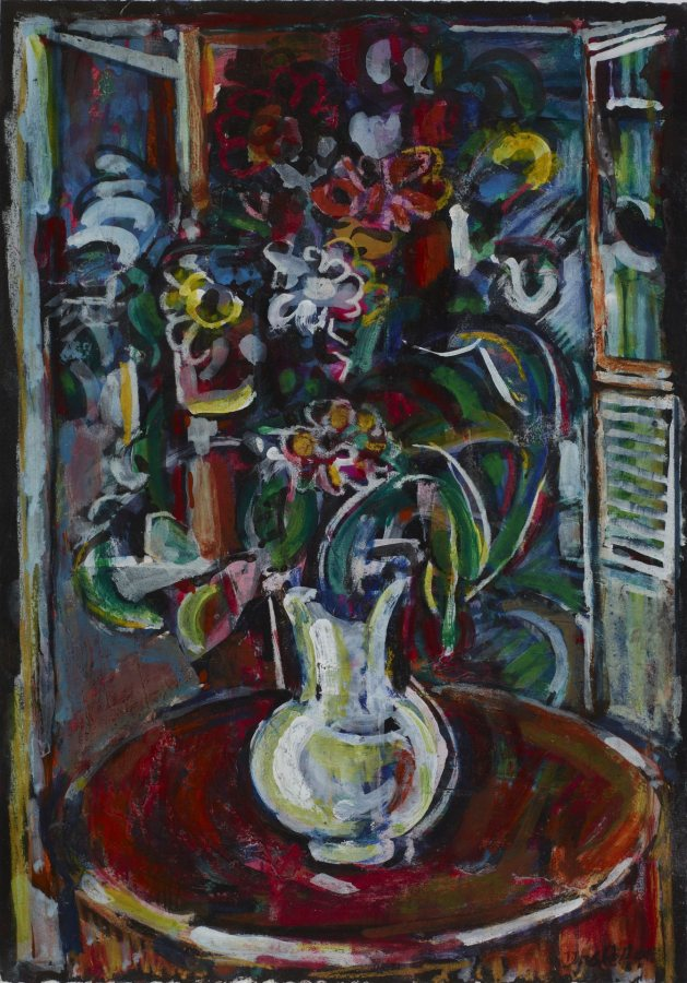 David C. Driskell, Bouquet, 2008, oil on paper, 2019.4.57