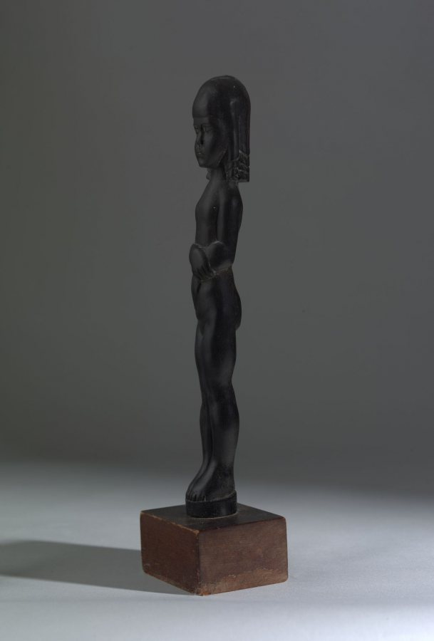 William Zorach, Innocence, n.d., carved mahogany, 12 1/8 x 1 ¾ x 1 ½ inches, 2019.4.59